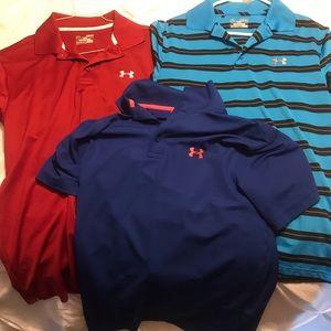 3 under armor polo shirts